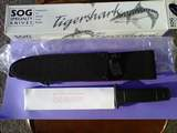 SOG Midnight Tigershark mint with papers